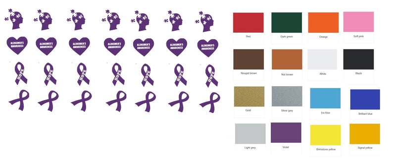Autism Awareness Vinyl Stickers ( Multiple colours to choose from )
