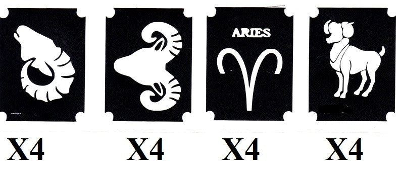 32 Aquarius  Tattoo Stencils
