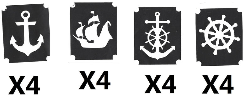 32 At sea Tattoo Stencils