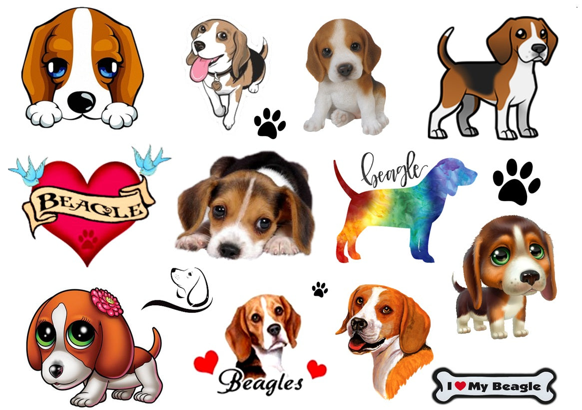 Beagle Dog Temporary Tattoos Kaz Creations