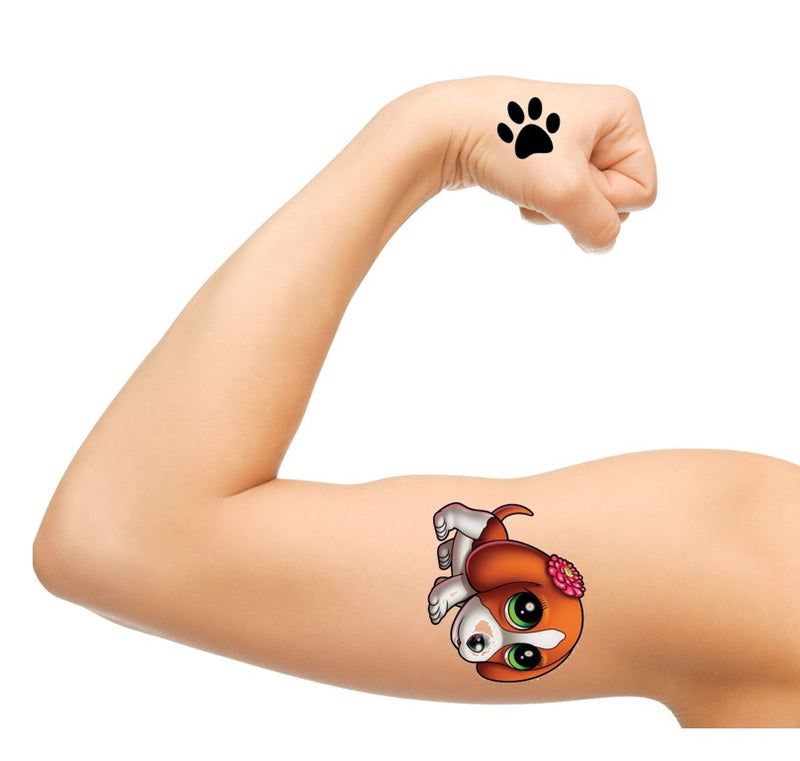 Beagle Dog Temporary Tattoos