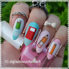 Back to school Nail Art