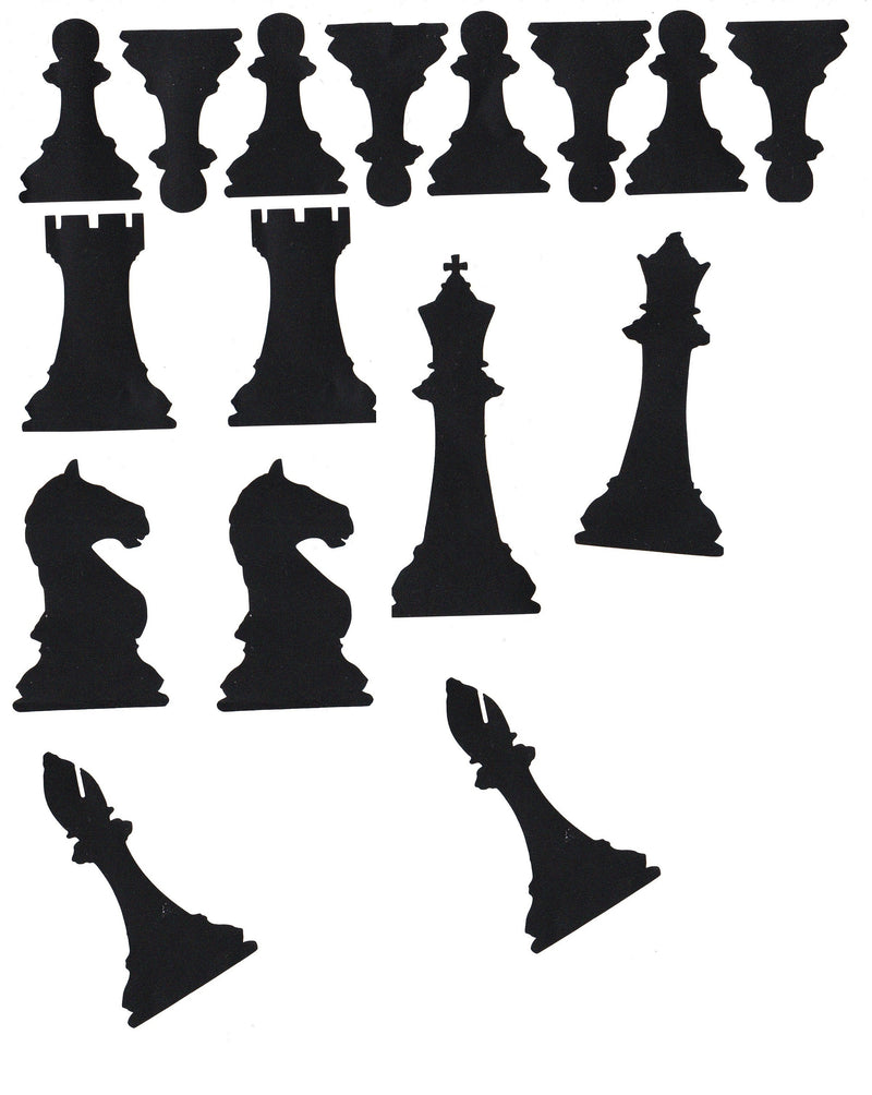 Chess Vinyl Stickers ( Multiple colours to choose from )