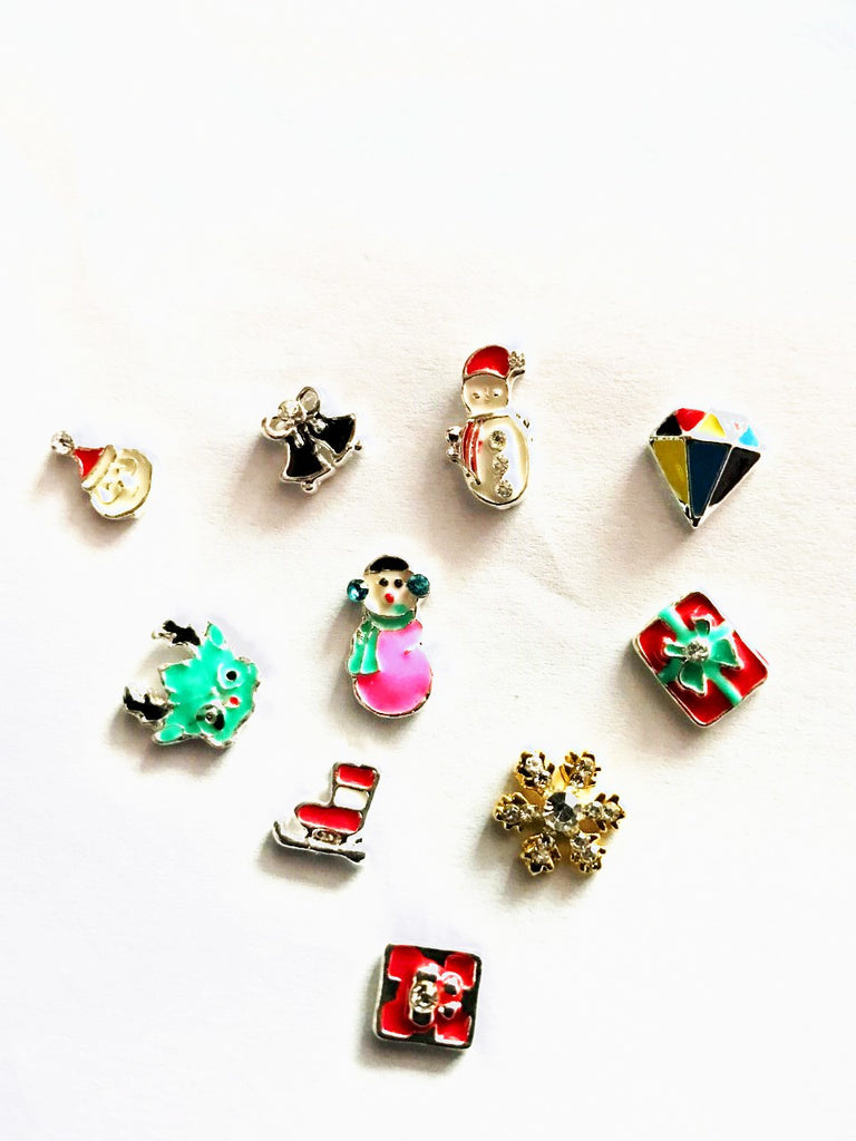 Christmas Nail Gems  ( Pack of 10 ) Collection 30