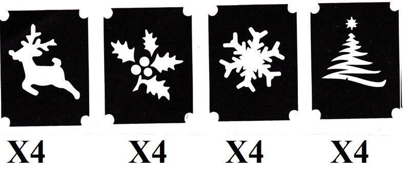 32 Christmas Tattoo Stencils c1