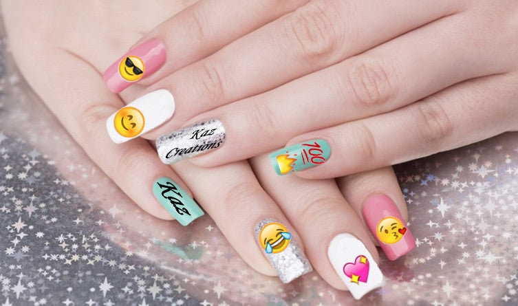 Emoji Code 5 Nail Art Emoticons