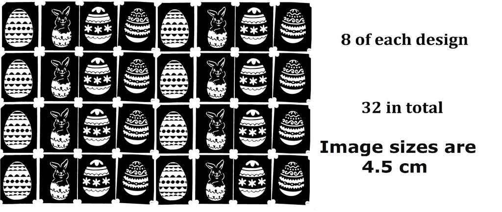 Easter Tattoo Stencils pack of 32 c3