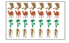 Egypt Vinyl Stickers ( Multiple colours to choose from )