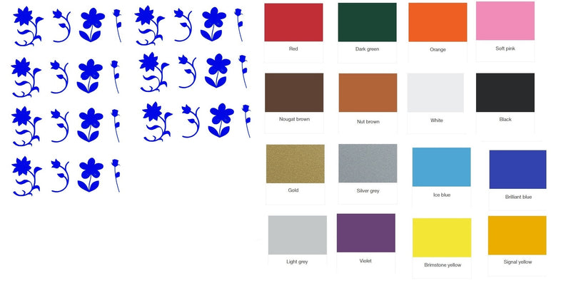 Flower Vinyl Stickers ( Multiple colours to choose from )