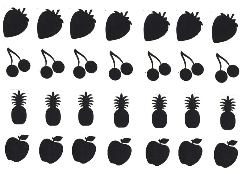 Fruits  Vinyl Stickers ( Multiple colours to choose from )