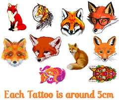 Fox code 1 Temporary Tattoos