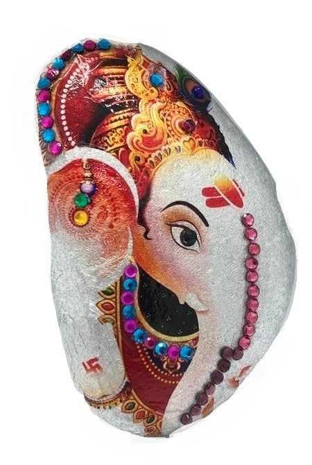 Ganesha Decorative Stone ( Several Colours to choose from )