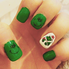 Grinch  Nail Art Decals c1