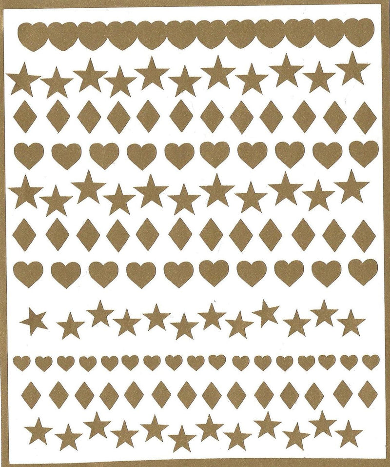 Heart Stars Diamonds  Nail Stickers