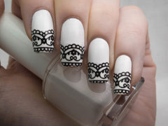 Lace Design Nail Art code 1
