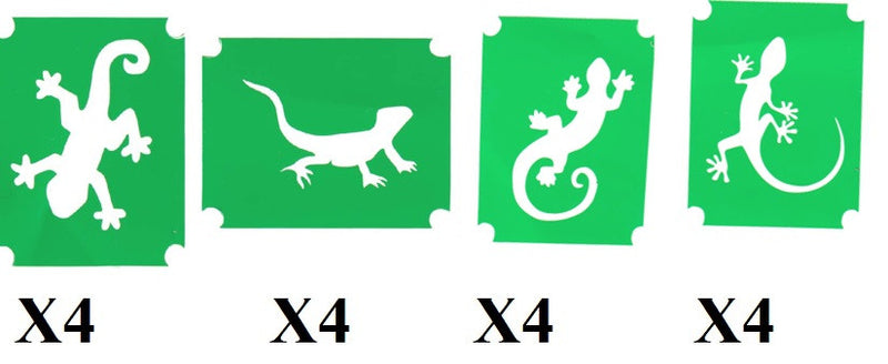 32 Lizard  Tattoo Stencils