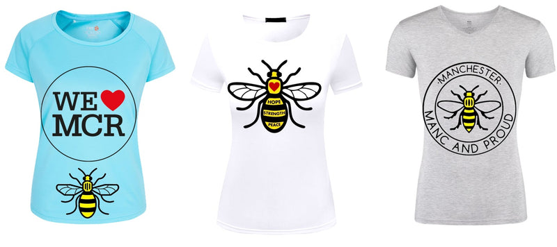 Manchester Bee Iron On Transfers