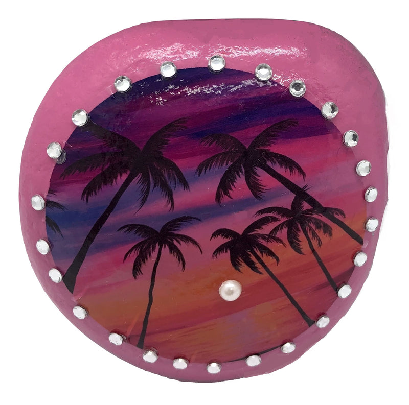 Palm Tree Decorative Stone ( Several Colours to choose from )
