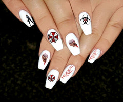 Resident Evil Nail Art Decals