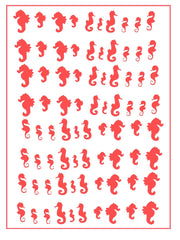 Seahorse Nail Stickers