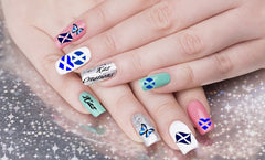 St Andrew Day  Nail Art