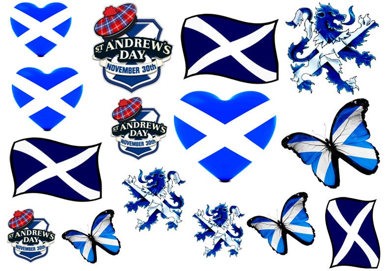 St Andrews Day Temporary Tattoos