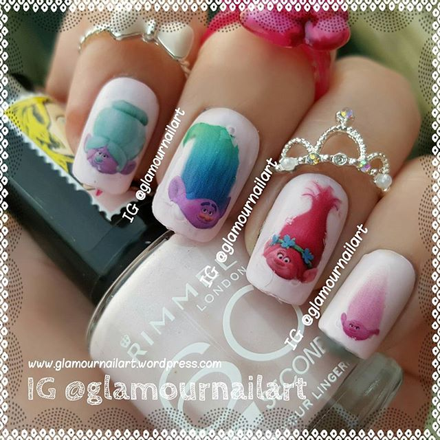 Trolls Collection Nail Art Decals c2