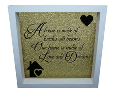 Home Is Made Of Love ( Gold backround , Black text )