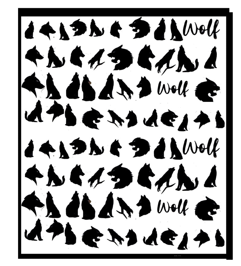 Wolf Nail Stickers