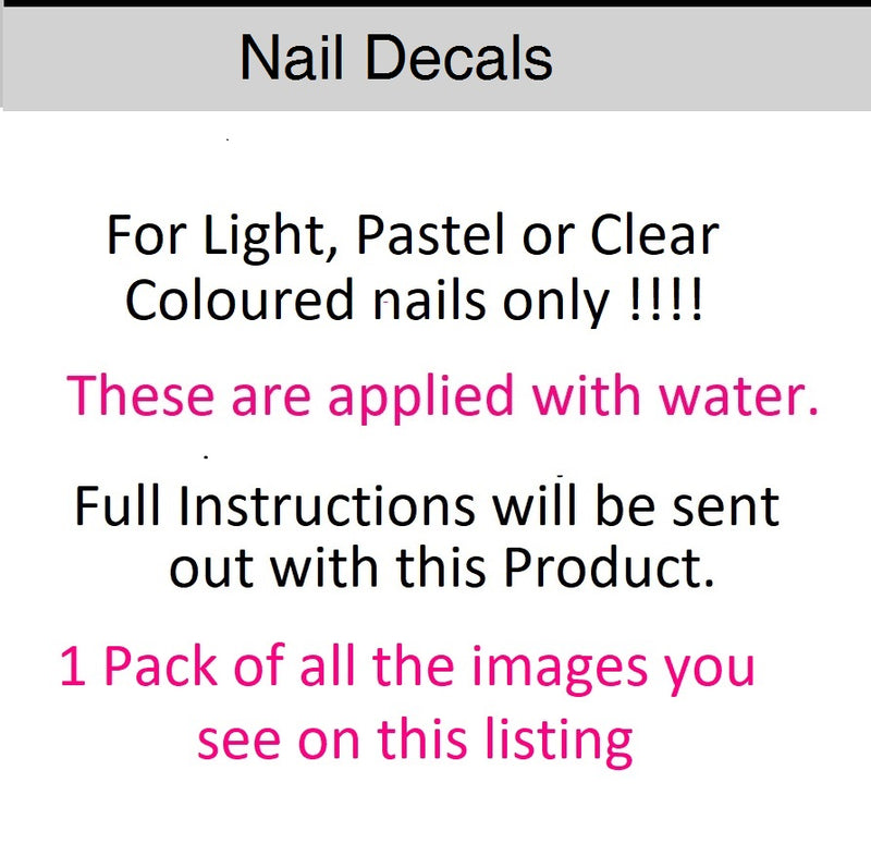 Tennis Nail Art Decals C1