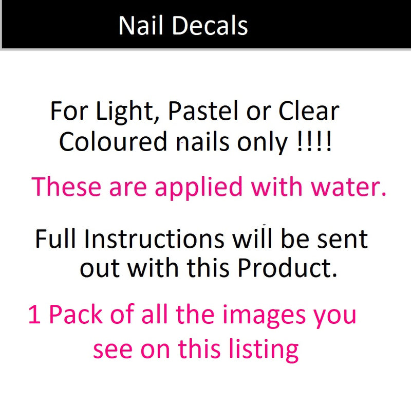 Christmas Nail Art Decals c3