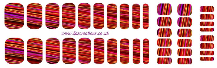 Red Abstract  Full Nail Wrap