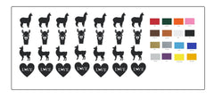 Alpaca Llama Vinyl Stickers ( Multiple colours to choose from )