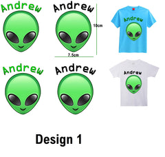Personalised Alien Iron On Transfer
