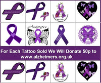 Alzheimer's  Awareness Temporary Tattoos