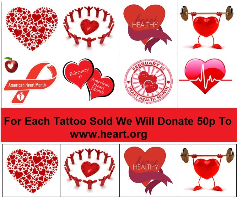 Heart Foundation Temporary Tattoos