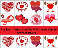 American Heart Foundation Temporary Tattoos