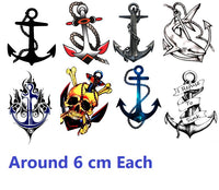 Anchor Code 2 Temporary Tattoos