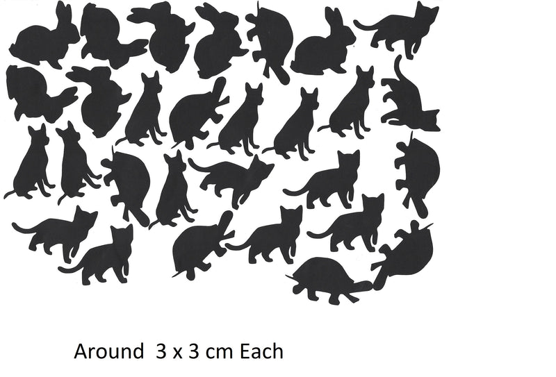 Cat Dog Turtle Rabbit c1 Vinyl Stickers ( Multiple colours to choose from )