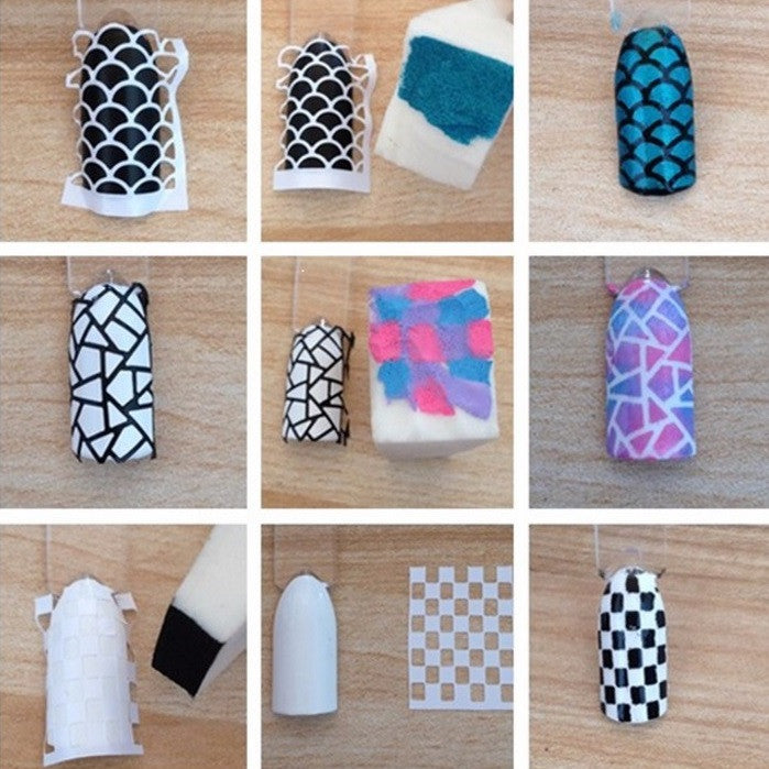 36 Nail Stencils style 138
