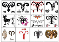 Aries Temporary Tattoos