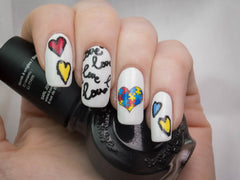 Autism Awareness Nail Art