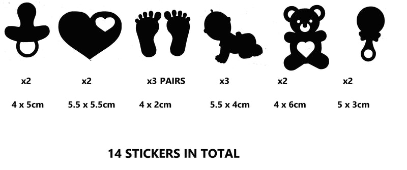 Baby  Vinyl Stickers ( Multiple colours to choose from )