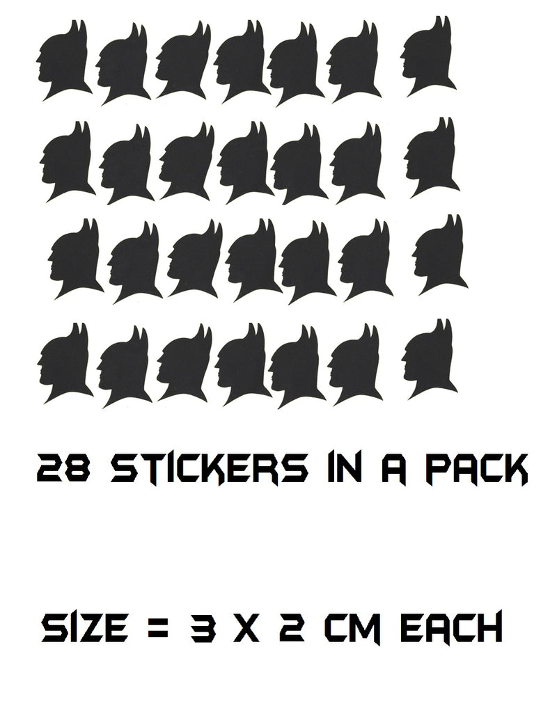 Batman Head Stickers ( Black )