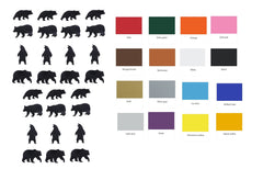 Bear Vinyl Stickers ( Multiple colours to choose from )