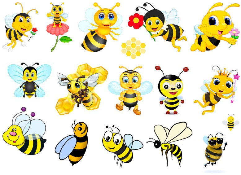 Bee c1  Temporary Tattoos