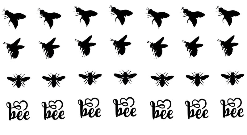 Bee  Wasp Vinyl Stickers ( Multiple colours to choose from )