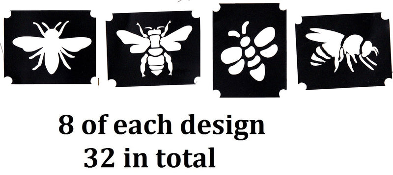 Bee and Wasp Tattoo Stencils
