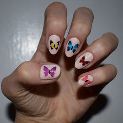 44 Nail Stencils  - Bird Butterfly Wasp