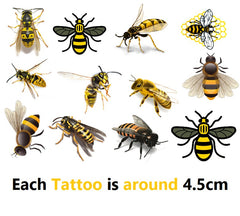 Bee Code 2 Temporary Tattoos
